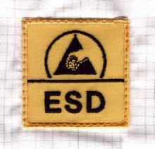 International ESD symbols are used on control devices and processes.